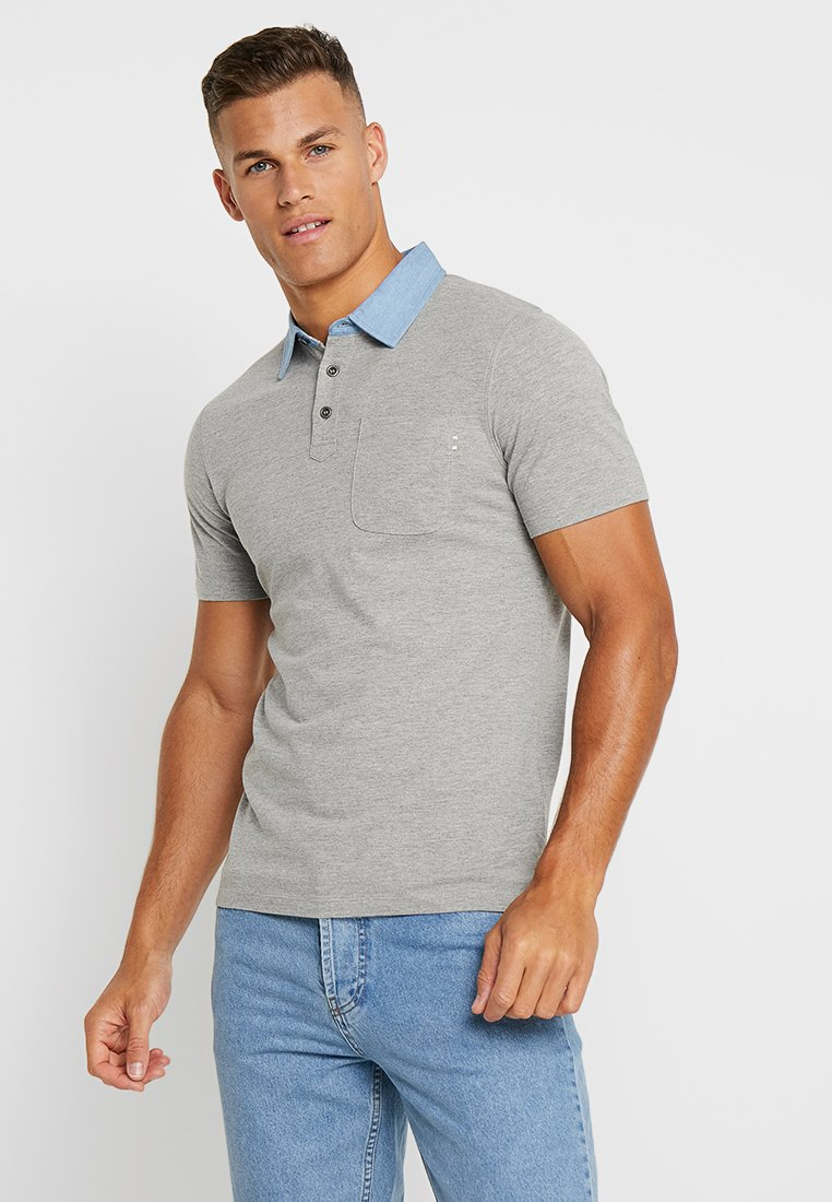 Jack & Jones PREMIUM - JPRDARREN - Poloshirt - light grey melange