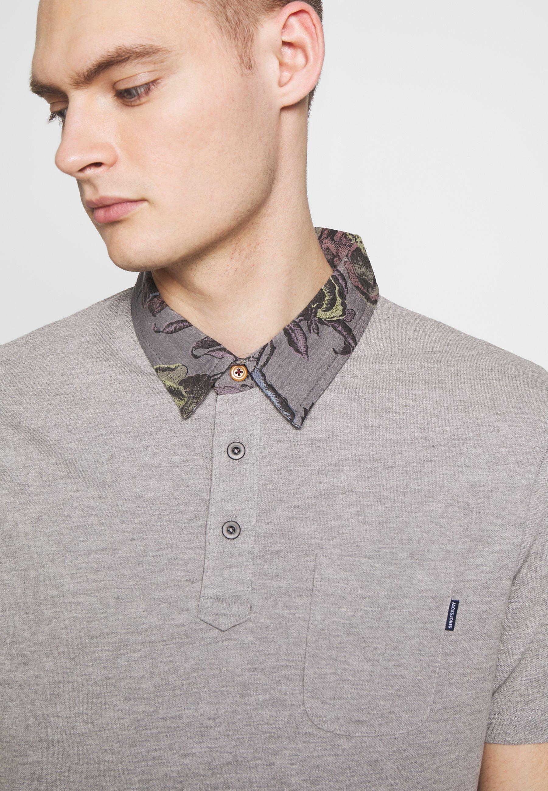 Jack & Jones JPRDARREN - Koszulka polo - light grey melange