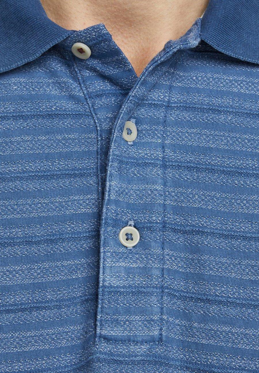 Jack & Jones PREMIUM POLOSHIRT GESTREIFTES - Piké - denim blue
