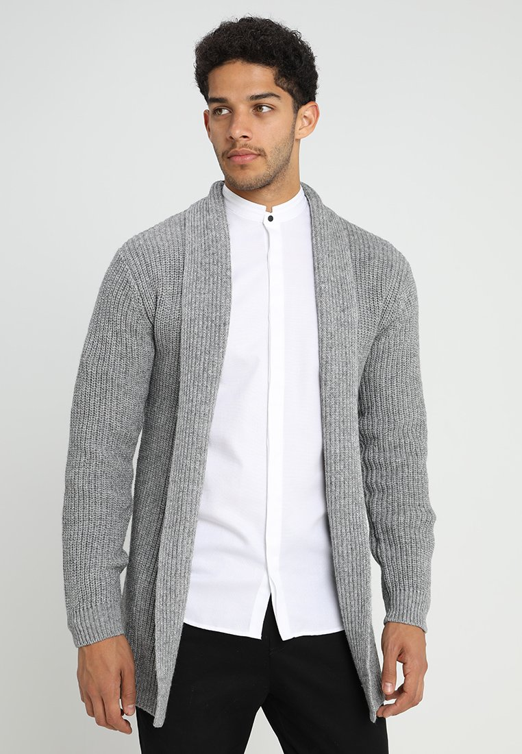 Jack & Jones PREMIUM - JPRKUNE - Cardigan - light grey melange