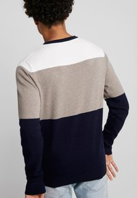 Jack & Jones PREMIUM - JPRRAW CREW NECK - Sweter - white - 2