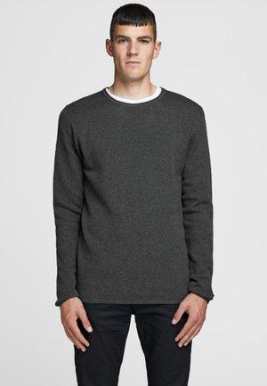 JPRANTON CREW NECK - Jumper - dark grey melange