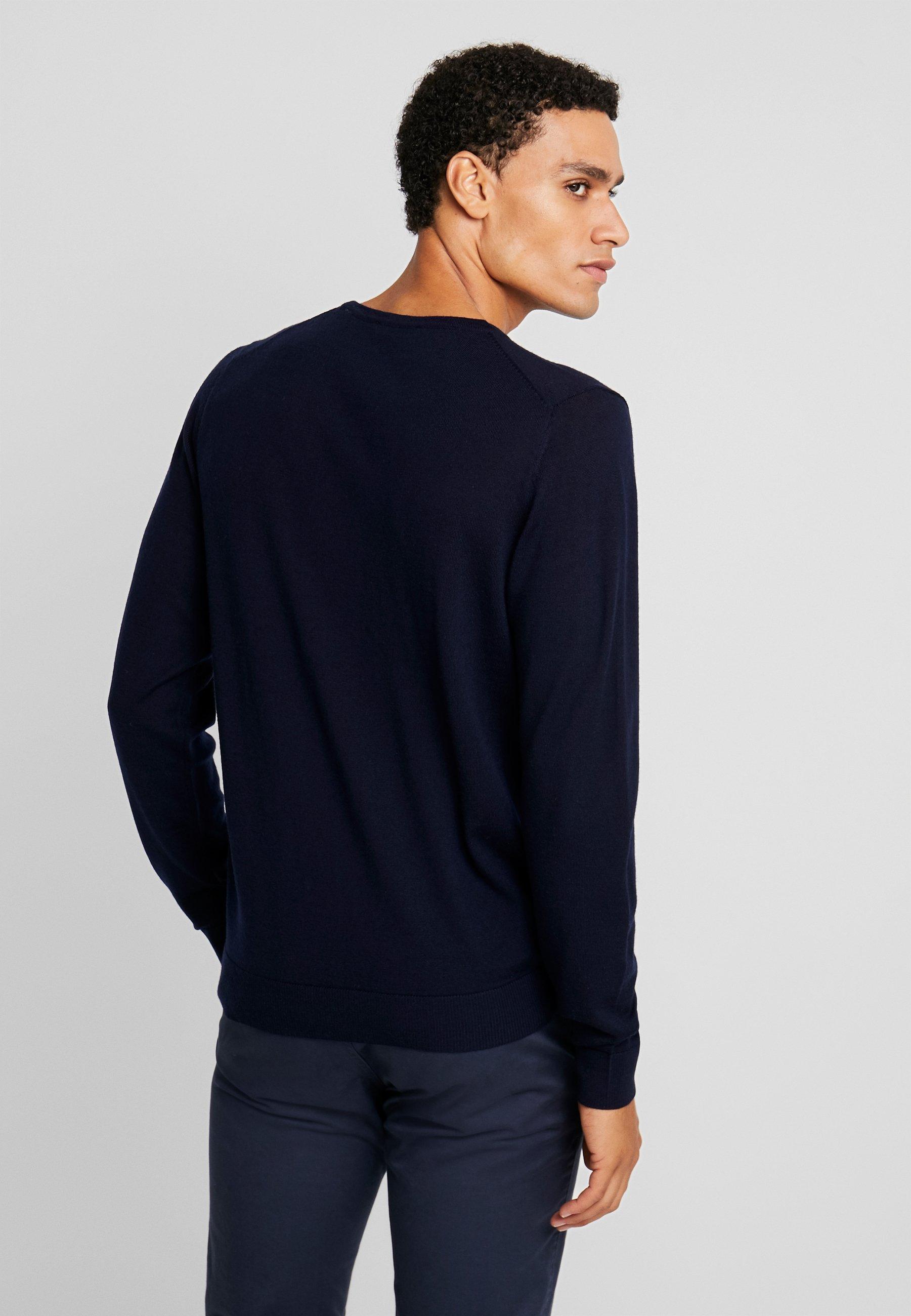 Jack & Jones Premium Jprmark Merino Knit Crew Neck - Stickad Tröja Maritime Blue