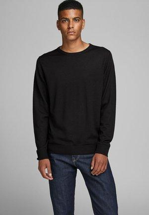 JPRMARK MERINO KNIT CREW NECK - Stickad tröja - black