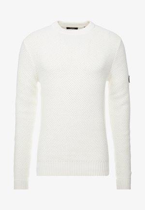 JPRMARCO KNIT CREW NECK - Strikkegenser - blanc de blanc