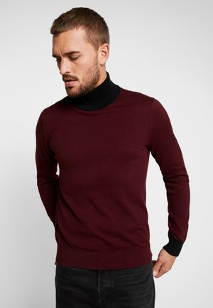JPRLARS HIGH NECK - Jersey de punto - port royale/black