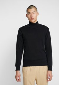 Jack & Jones PREMIUM - JPRLARS HIGH NECK - Pullover - black - 0