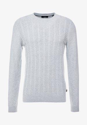 JPRFAST CABLE CREW NECK  - Jersey de punto - cool grey melange