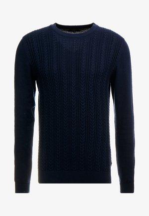 JPRFAST CABLE CREW NECK  - Jersey de punto - maritime blue