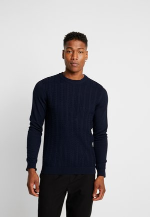 JPRFAST CABLE CREW NECK  - Maglione - maritime blue