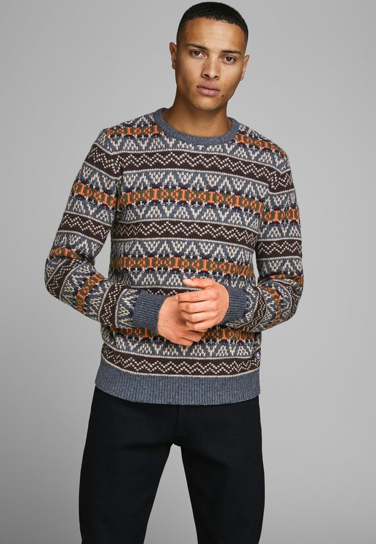 Jack & Jones PREMIUM - Stickad tröja - burnt orange
