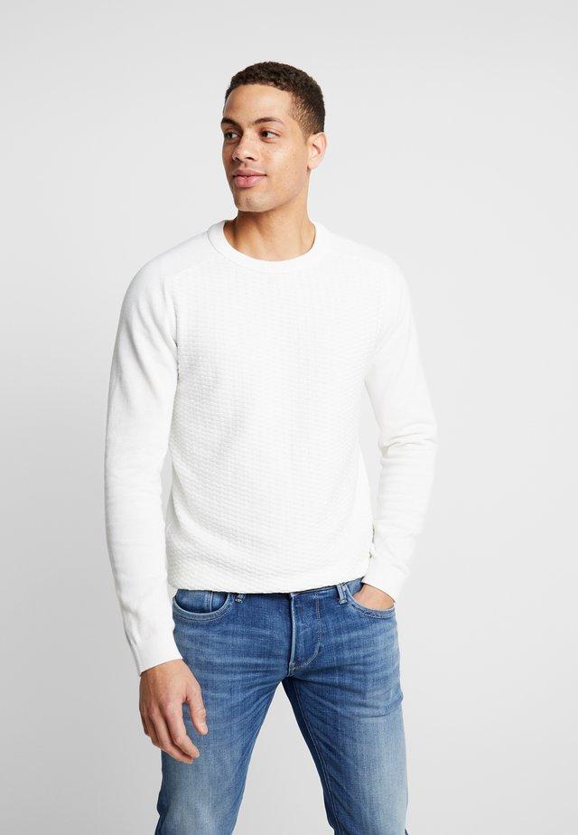 JPRBLASHERAN CREW NECK - Neule - blanc de blanc