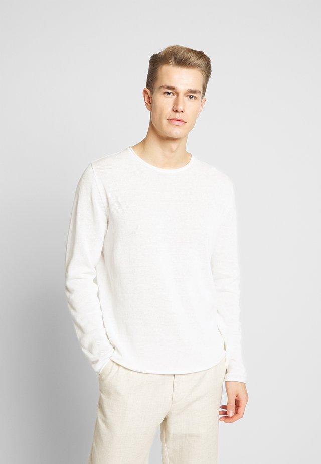 JPRBLALINEN CREW NECK - Jumper - blanc de blanc