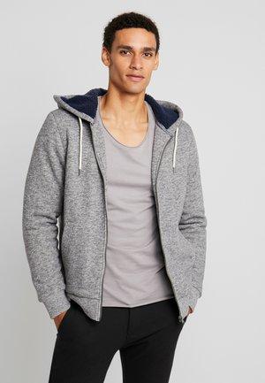 JPRJASON HOOD JACKET - veste en sweat zippée - grey melange