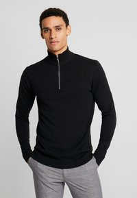 Jack & Jones PREMIUM - JPREDGAR HALF ZIP - Trui - black - 0