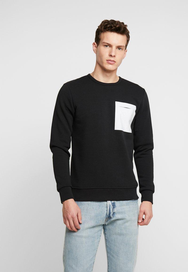 Jack & Jones PREMIUM - JPRPOCKET CREW NECK - Sweatshirt - black
