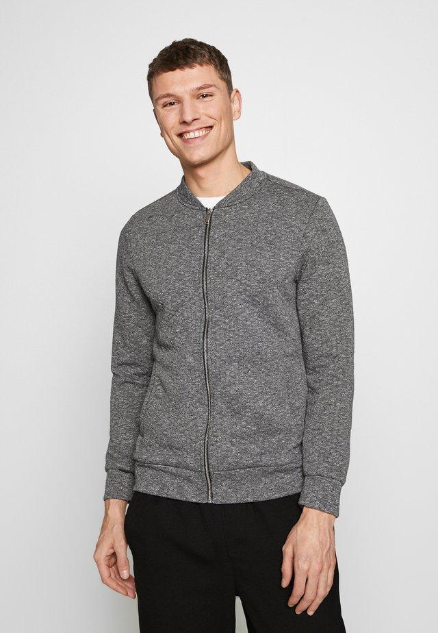 JPRELLO ZIP CARDIGAN - Zip-up hoodie - dark grey melange