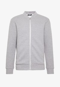Jack & Jones PREMIUM - JPRSTEVIE SWEAT ZIP CARDIGAN - Sweatjacke - grey melange/melange - 4