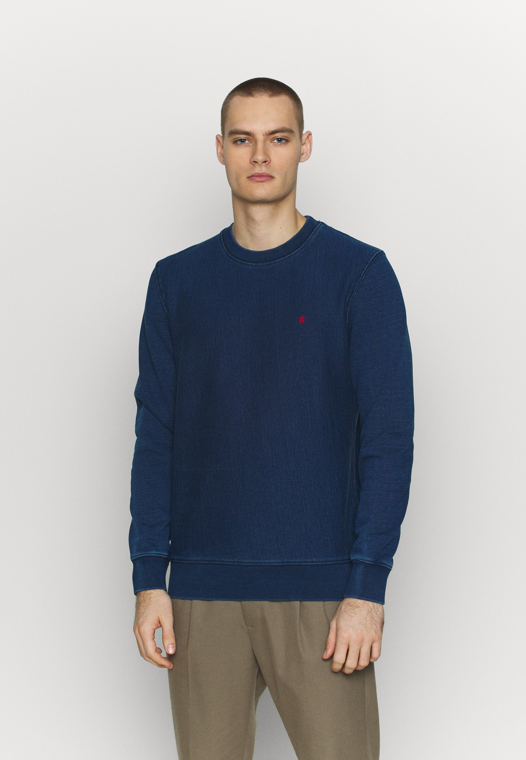 Jack & Jones PREMIUM CREW NECK - Bluza - dark blue denim