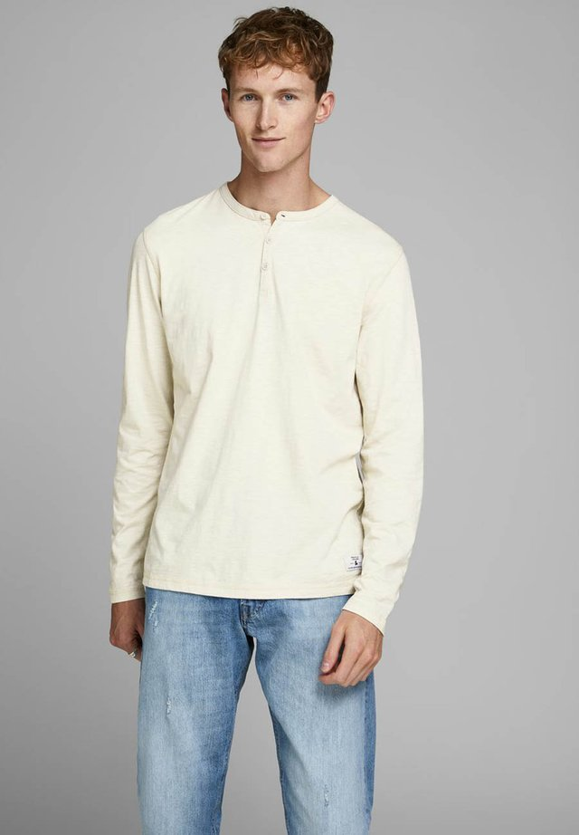 GRANDDAD STYLE - Sweatshirt - mottled light yellow