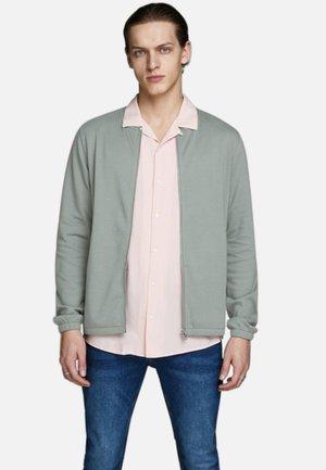 Zip-up hoodie - dark dusty green
