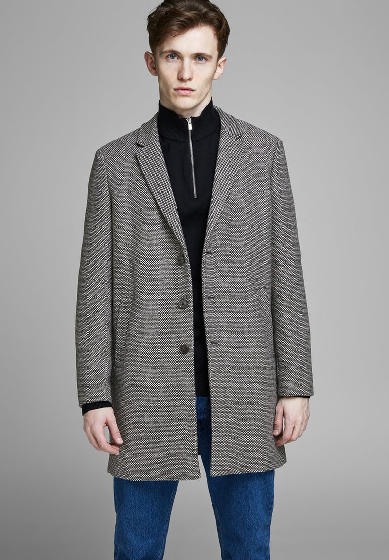 Jack & Jones PREMIUM - JPRMOULDER  - Cappotto corto - dark grey melange