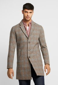 Jack & Jones PREMIUM - JPRMOULDER CHECK COAT - Cappotto classico - brown stone - 0