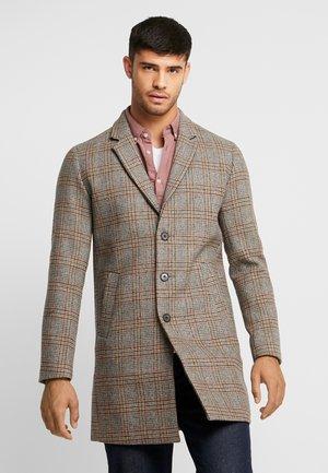 JPRMOULDER CHECK COAT - Zimní kabát - brown stone