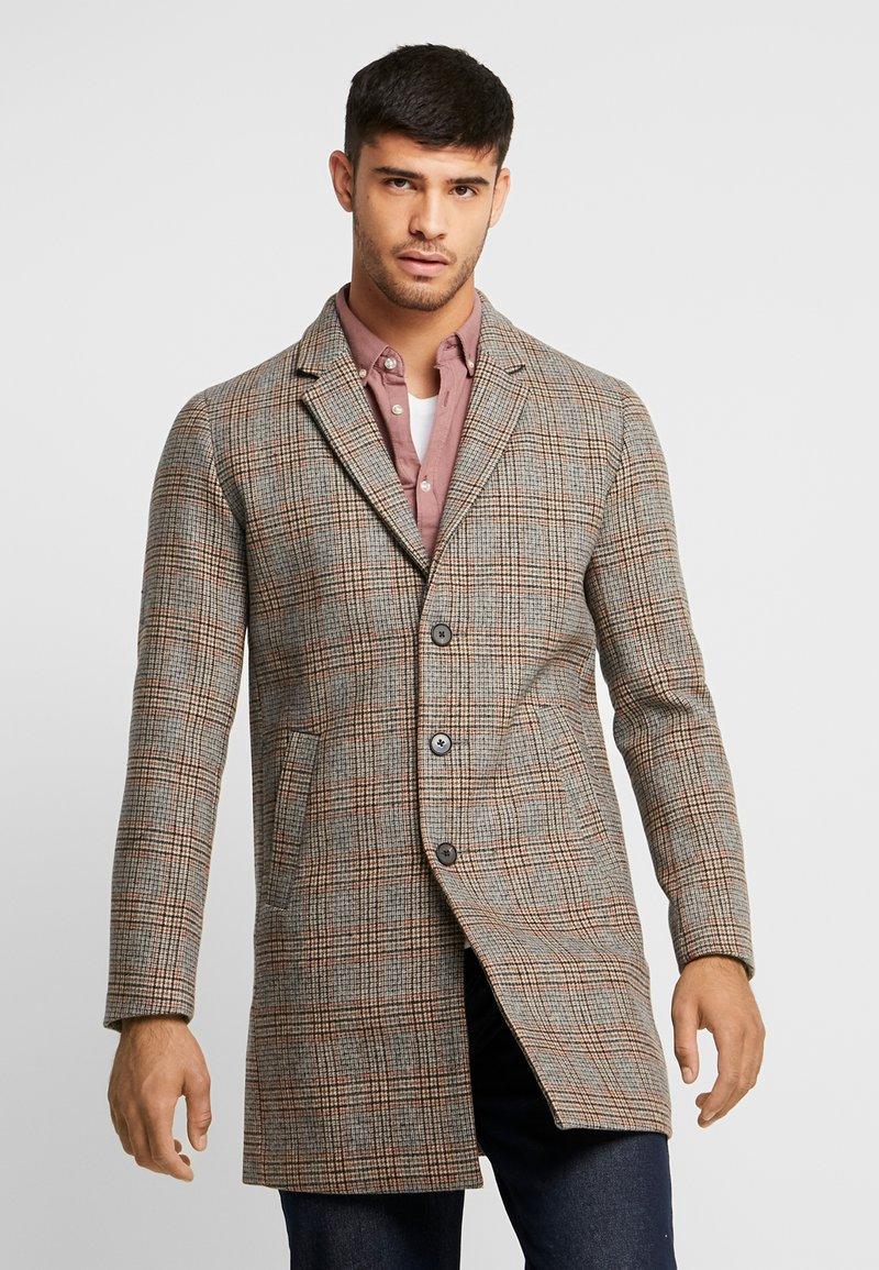 Jack & Jones PREMIUM - JPRMOULDER CHECK COAT - Cappotto classico - brown stone