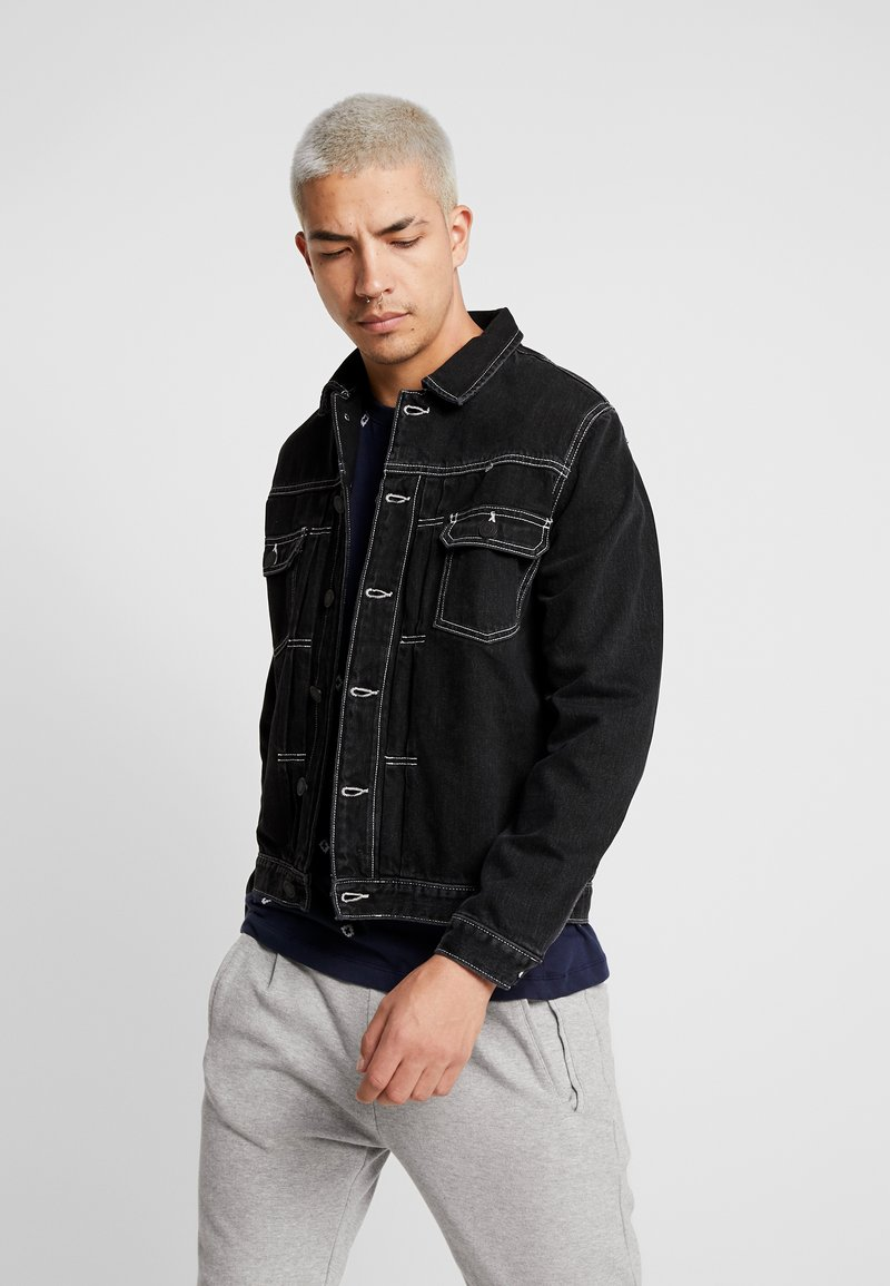 Jack & Jones PREMIUM - JJIWILLIAM JJJACKET - Džínová bunda - black denim