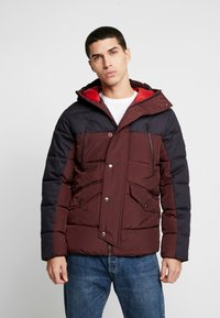 Jack & Jones PREMIUM - JPRICEBREAKER PUFFER JACKET - Zimní bunda - fudge - 0