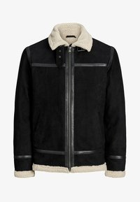 Jack & Jones PREMIUM - Veste en cuir - black - 4