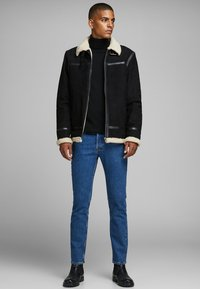 Jack & Jones PREMIUM - Veste en cuir - black - 1