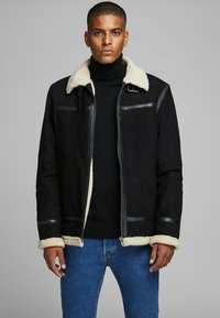 Jack & Jones PREMIUM - Veste en cuir - black - 0