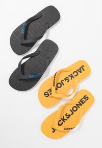 Jack & Jones Junior - JRFLIP FLOP 2 PACK - Boty do bazénu - black/yellow - 5