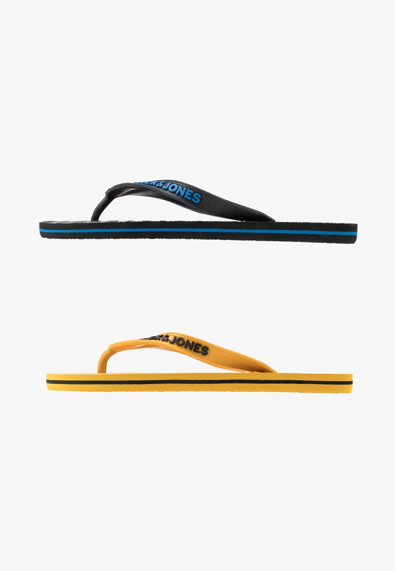 Jack & Jones Junior - JRFLIP FLOP 2 PACK - Boty do bazénu - black/yellow