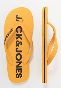 Jack & Jones Junior - JRFLIP FLOP 2 PACK - Boty do bazénu - black/yellow - 1