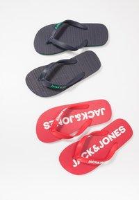 Jack & Jones Junior - JRFLIP FLOP 2 PACK - Boty do bazénu - barbados cherry - 5