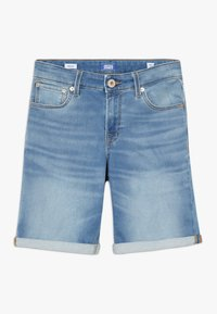 Jack & Jones Junior - JJIRICK JJICON - Denim shorts - blue denim - 0