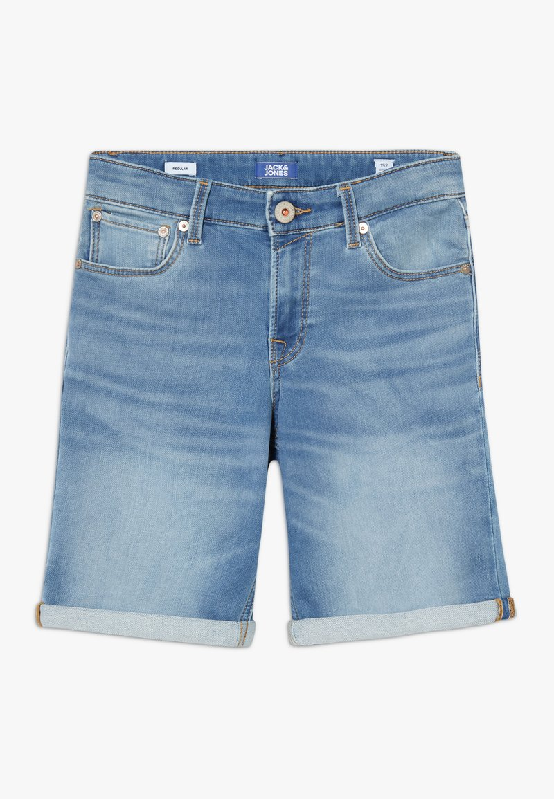 Jack & Jones Junior - JJIRICK JJICON - Denim shorts - blue denim