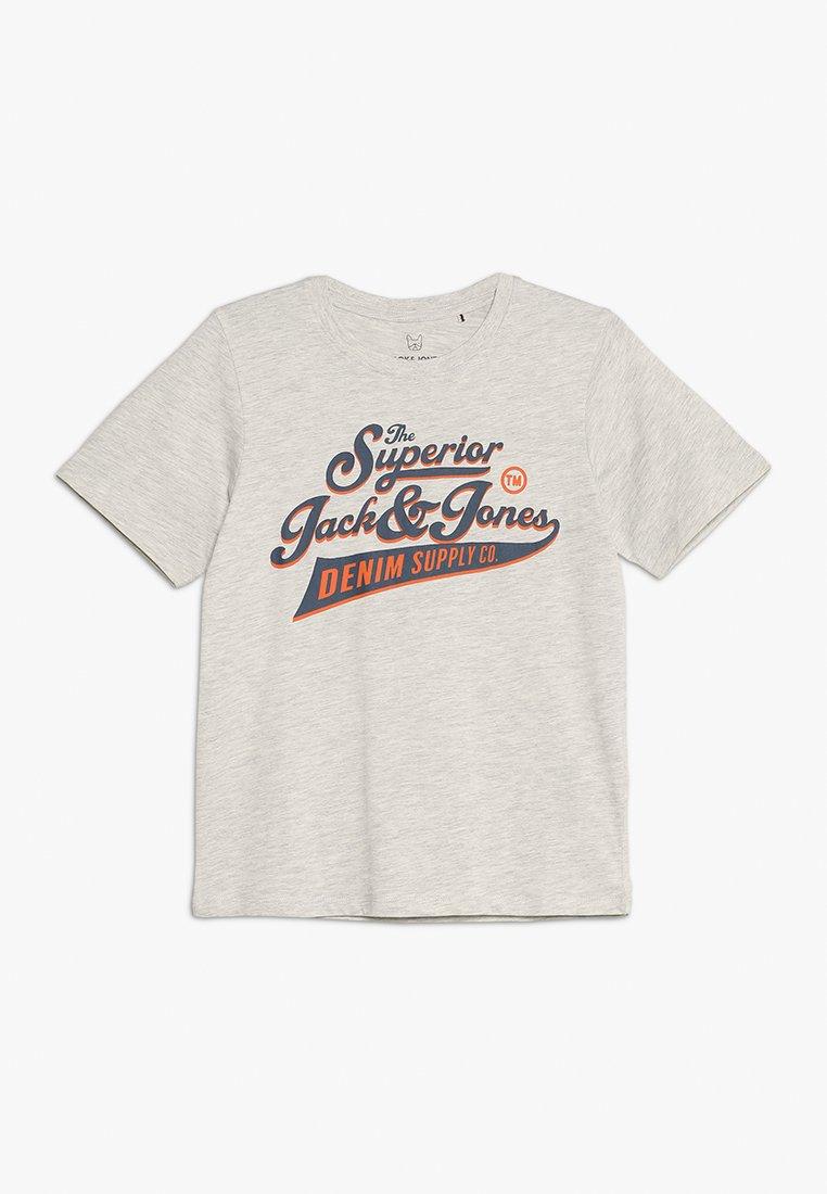 Jack & Jones Junior - JJELOGO TEE CREW NECK - Camiseta estampada - white melange