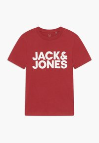 Jack & Jones Junior - JJECORP LOGO TEE CREW NECK - T-shirts med print - rio red - 0