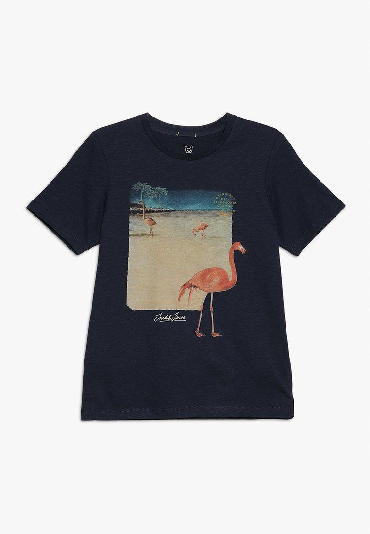 Jack & Jones Junior - JORTRAVELLER TEE CREW NECK  - Print T-shirt - total eclipse