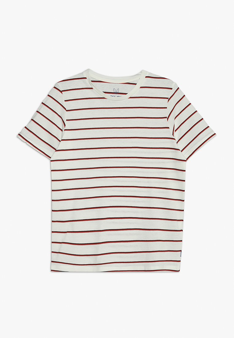 Jack & Jones Junior - JORRETROVIBE TEE CREW NECK - T-shirts med print - cloud dancer