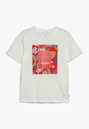 JORTROPICANA TEE CREW NECK JUNIOR - Triko s potiskem - cloud dancer
