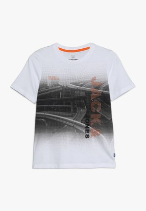 JCOAUTUMN TEE CREW NECK - Print T-shirt - white
