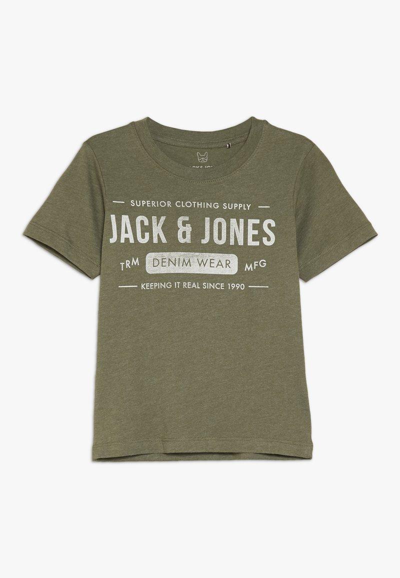 Jack & Jones Junior - Triko spotiskem - olive night/melange