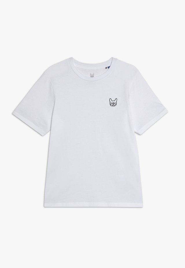 JJEDENIM LOGO TEE O NECK  - T-shirt - bas - white/black