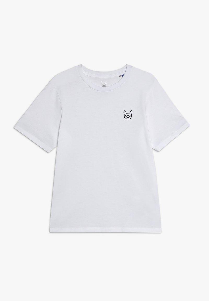 Jack & Jones Junior - JJEDENIM LOGO TEE O NECK  - T-shirt basic - white/black