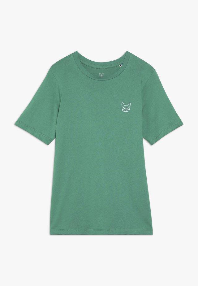 JJEDENIM LOGO TEE O NECK  - Basic T-shirt - verdant green/white